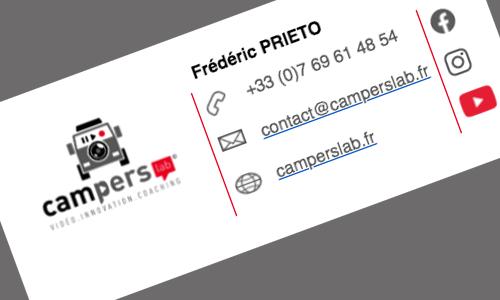 communication contenu vidéo webrédaction carte de visite logo stickers camion aménagé fourgon van vanlife vanlifer brochure kit média